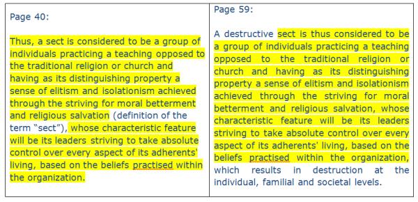 Kuzmins Sect Definition